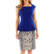 Worthington® Asymetrical Zip-Front Peplum Top or Print Pencil Skirt - Petite