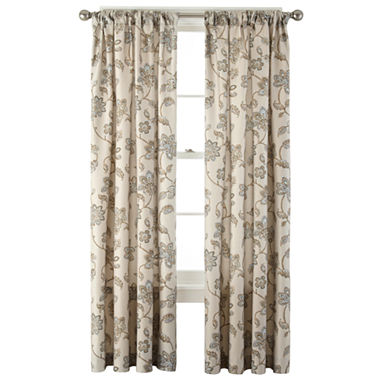 JCPenney Home Bedford Rod Pocket Curtain Panel