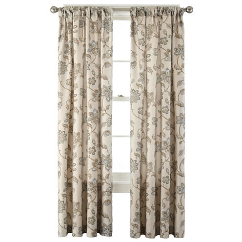 JCPenney Home™ Bedford Rod-Pocket/Back-Tab Curtain Panel