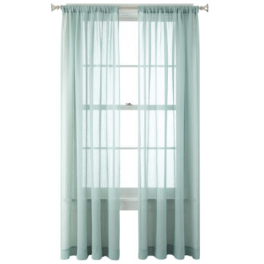 jcpenney.com | JCPenney Home™ Heather Rod-Pocket Sheer Panel
