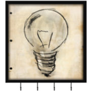 Light Bulb Wall Decor with Hooks