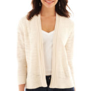 Liz Claiborne 3/4-Sleeve Cardigan Sweater