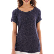 Liz Claiborne Short-Sleeve Sweatshirt