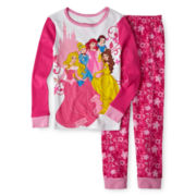 Disney Collection Multiple Princess 2-pc. Pajamas – Girls 2-10