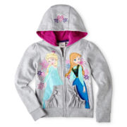 Disney Collection Frozen Hooded Fleece Jacket – Girls 2-10