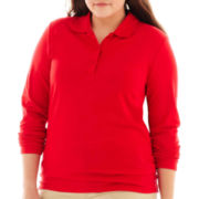 Arizona Long-Sleeve Uniform Polo Shirt - Plus