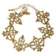 Gemma Simone™ Crest Gold-Tone Filigree Bracelet