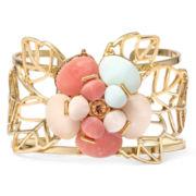 Gemma Simone™ Petunia Fresh Cut Multicolor Stone Cuff Bracelet