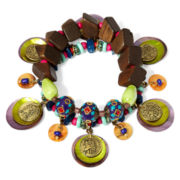 Aris by Treska Amalfi Coast Multicolor Bead Trinket Stretch Bracelet