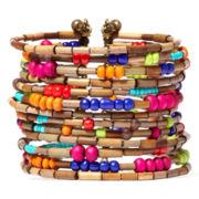 Aris by Treska Amalfi Coast Multicolor Bead Coil Bracelet
