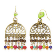 Aris by Treska Amalfi Coast Multicolor Bead Shaky Chandelier Earrings