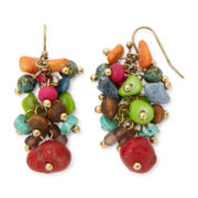 Aris by Treska Amalfi Coast Multicolor Bead Cluster Drop Earrings
