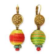 Aris by Treska Amalfi Coast Multicolor Thread-Wrap Drop Earrings