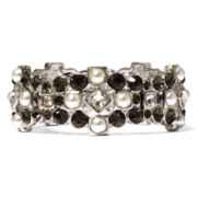 Monet® Multicolor Crystal Silver-Tone Stretch Bracelet