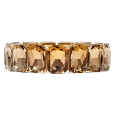 jcpenney.com | Monet® Light Brown Crystal Gold-Tone Stretch Bracelet