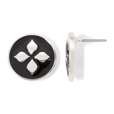 jcpenney.com | Liz Claiborne® Silver-Tone Stud Earrings