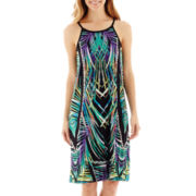 nicole by Nicole Miller® Sleeveless Pleated Halter Dress