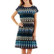 Fifth & Park Short-Sleeve Chiffon Blouson Dress