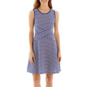 Trulli Sleeveless Textured Fit-and-Flare Dress
