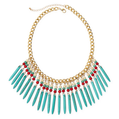 jcpenney.com | ROX by Alexa Multicolor Stones Fringe Necklace