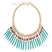 ROX by Alexa Multicolor Stones Fringe Necklace