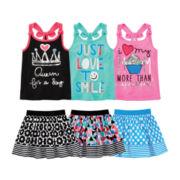 Okie Dokie® Tank Top or Skort - Toddler Girls 2t-5t