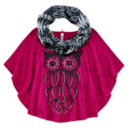 Beautees Circle Top and Scarf - Girls 7-16 and Plus