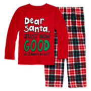 Okie Dokie® Dear Santa Pajama Set - Toddler Boys 2t-4t