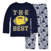 Okie Dokie® Football Pajama Set - Toddler Boys 2t-4t