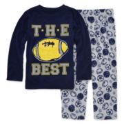 Okie Dokie® Football Pajama Set - Toddler Boys 2t-4t