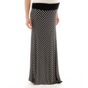 Zoomers Maternity Striped Maxi Skirt