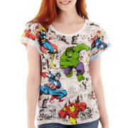 Marvel® Short-Sleeve Allover Print T-Shirt