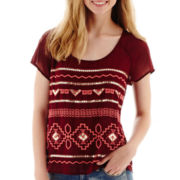 Arizona Short-Sleeve Embroidered Top