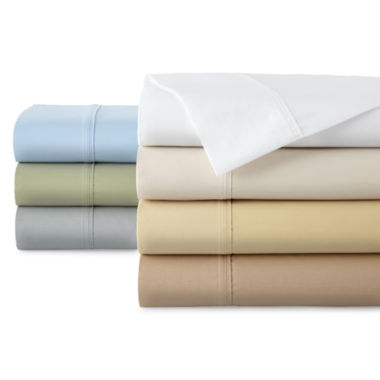 jcpenney.com | JCPenney Home™ 300tc Easy Care Solid Sheet Set