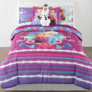 Disney® Frozen Nordic Summer Reversible Twin/Full Comforter + BONUS Sham