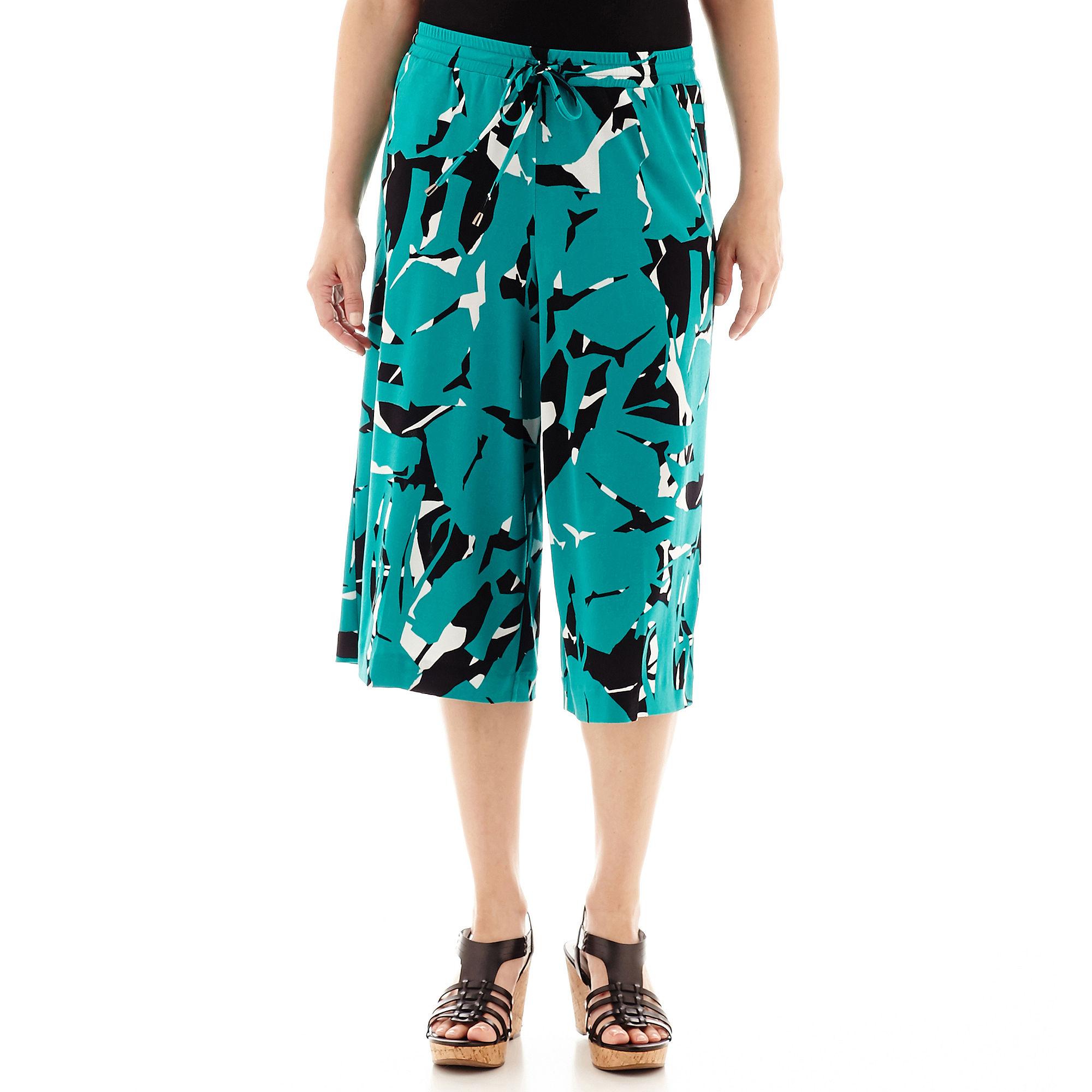 Worthington Drawstring Gaucho Pants - Petite plus size,  plus size fashion plus size appare