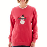 MCCC Sportswear Long-Sleeve Cardinal Snowman Fleece Sweater