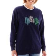 MCCC Sportswear Long-Sleeve Swirl Tree Fleece Sweater