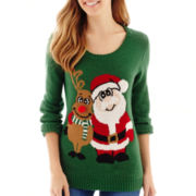 By Design Long-Sleeve Friends Forever Christmas Sweater
