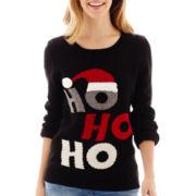 By Design Long-Sleeve Ho Ho Ho Christmas Sweater