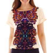 Liz Claiborne® Dolman-Sleeve Roll-Cuff Blouse