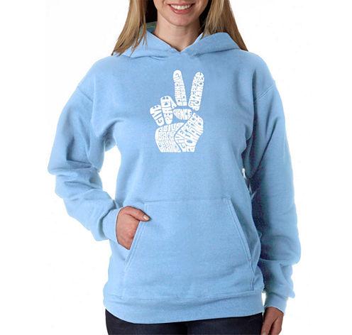 Los Angeles Pop Art Peace Fingers Sweatshirt