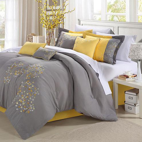 Chic Home Pink Floral Comforter Set
