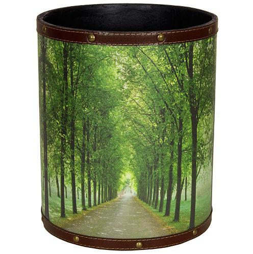 Oriental Furniture Path Of Life Waste Basket