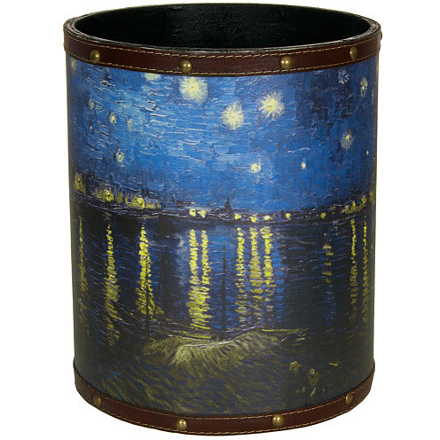 Oriental Furniture Van Gogh Over The Rhone Waste Basket
