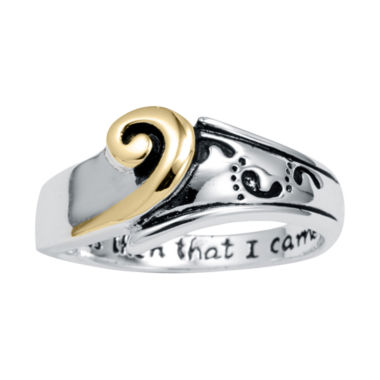"jcpenney.com | Footnotes® Sterling Silver ""I Carried You"" Ring"