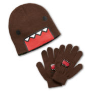 Domo Reversible Beanie & Gloves Set - Boys