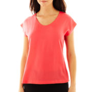 Worthington® Short-Sleeve Shell Blouse