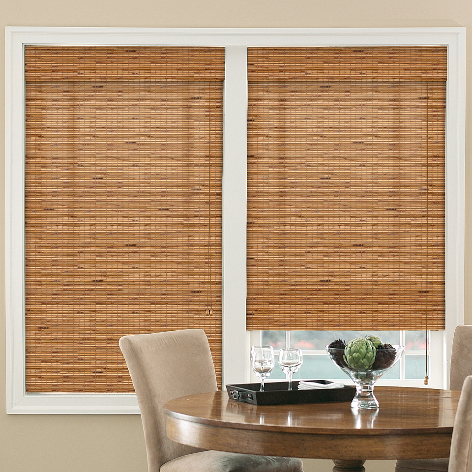 Bali springs bali natural roman shade cabo honey nut on for Bali blinds