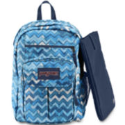 JanSport® Digital Student Backpack - Blue Chevron